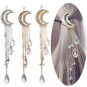 💌HP💌Boho Moon & Stars Crystal Hair Clip